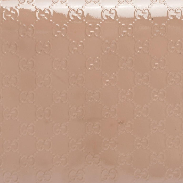Gucci Beige Nice Microguccissima Leather Broadway Clutch For Sale 6