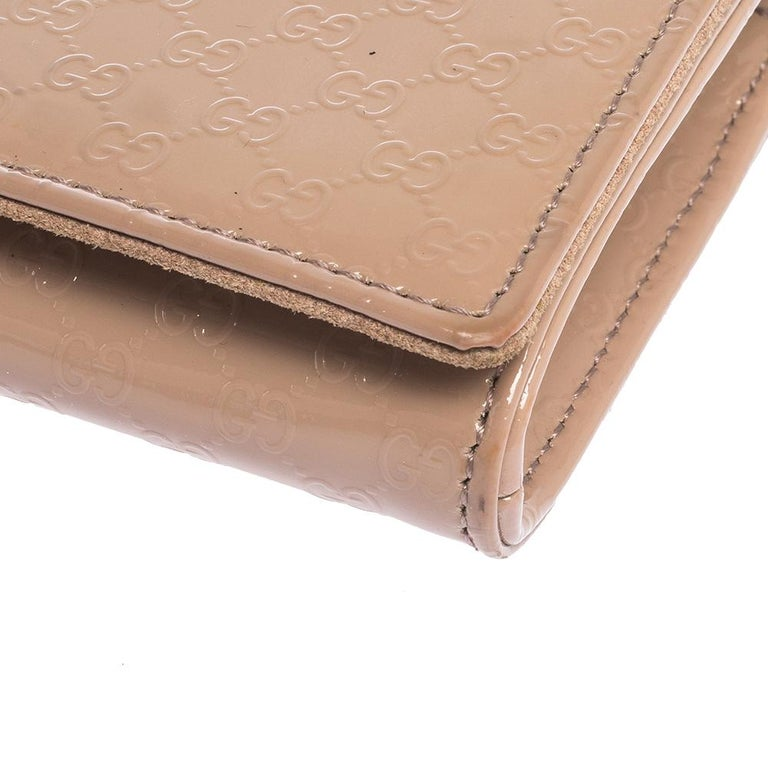 Gucci Beige Nice Microguccissima Leather Broadway Clutch For Sale 7