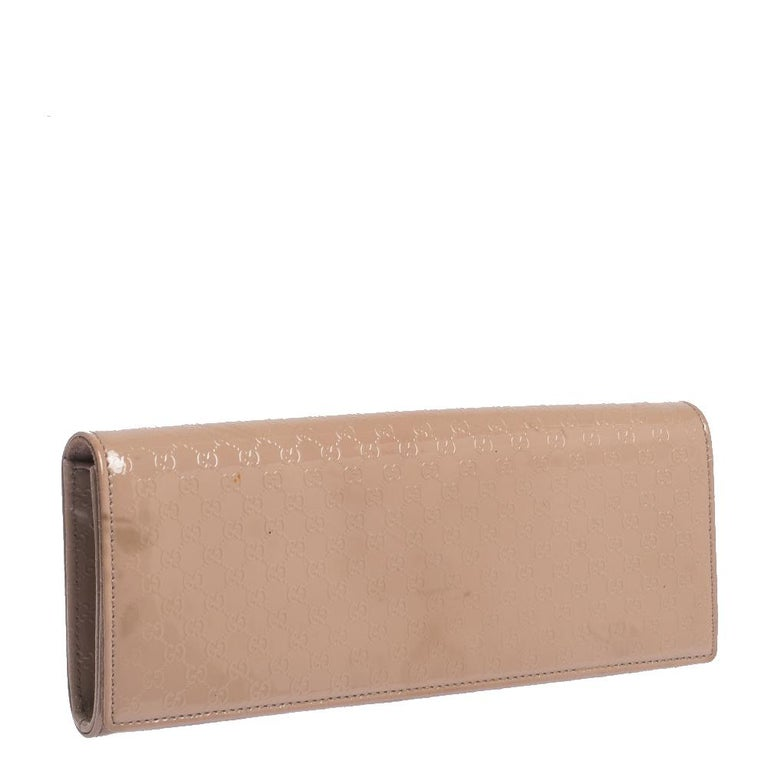 Women's Gucci Beige Nice Microguccissima Leather Broadway Clutch For Sale