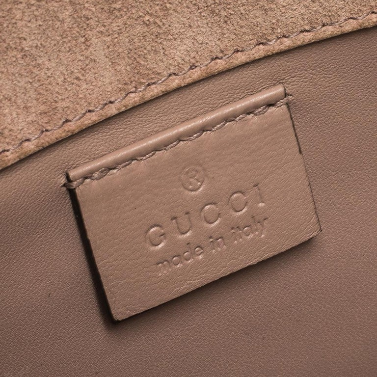 Gucci Beige Nice Microguccissima Leather Broadway Clutch For Sale 3