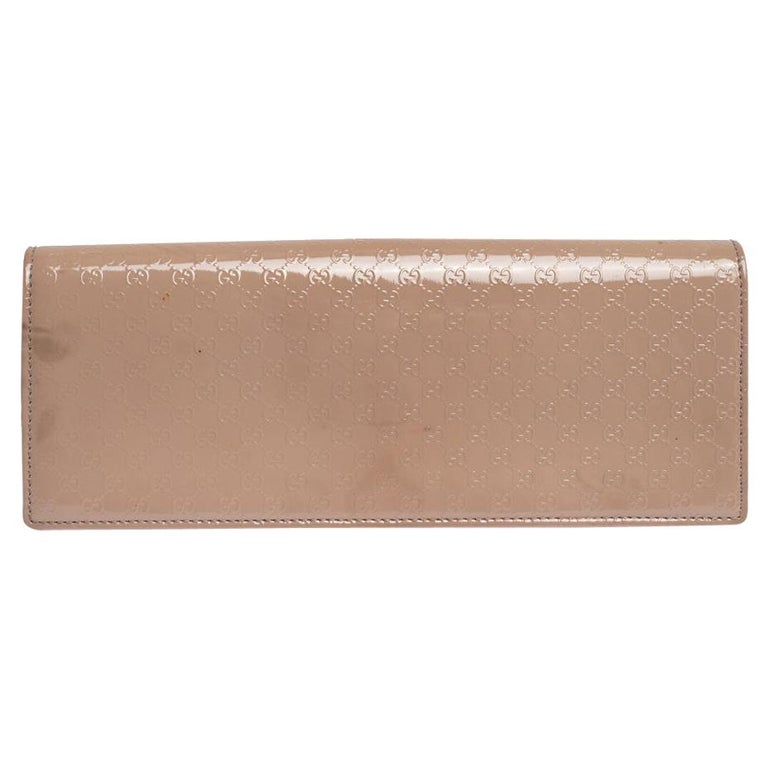 Gucci Beige Nice Microguccissima Leather Broadway Clutch For Sale