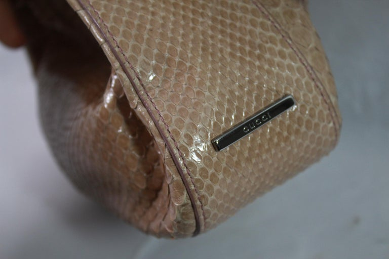 Women's or Men's Gucci Beige / Pink Mini  Handbag in Python Leather For Sale