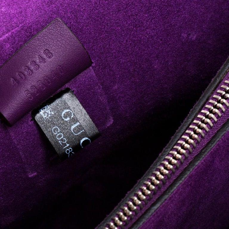 Black Gucci Beige/Purple GG Supreme Canvas and Suede Medium Dionysus Shoulder Bag