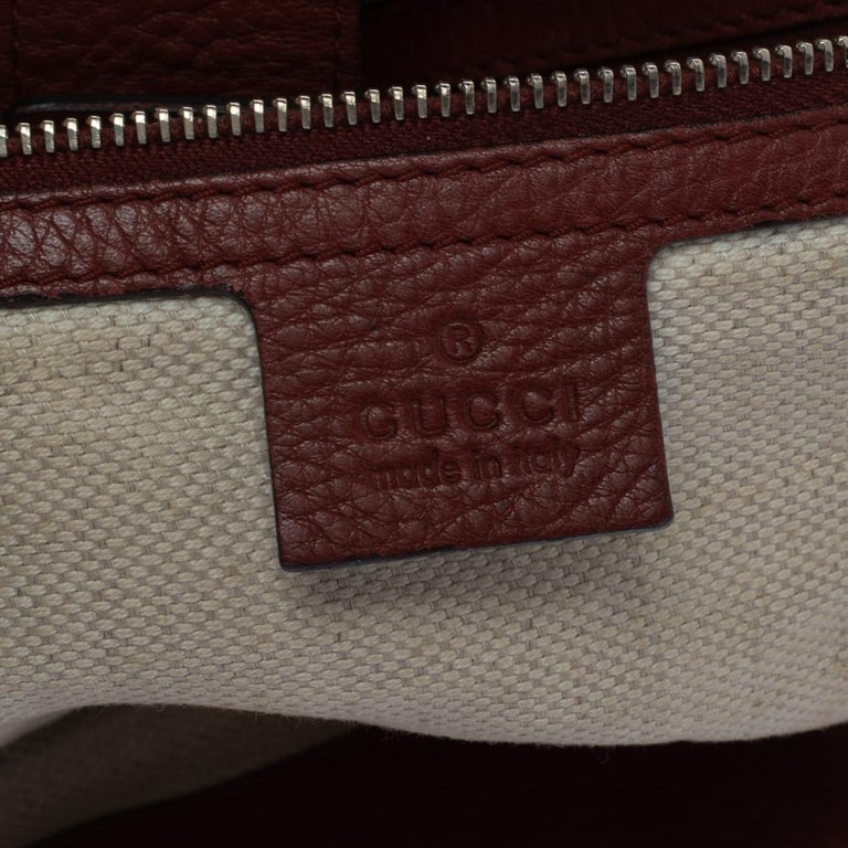 Gucci Beige/Red GG Canvas and Leather Medium Supreme Web Dressage Tote For Sale 2