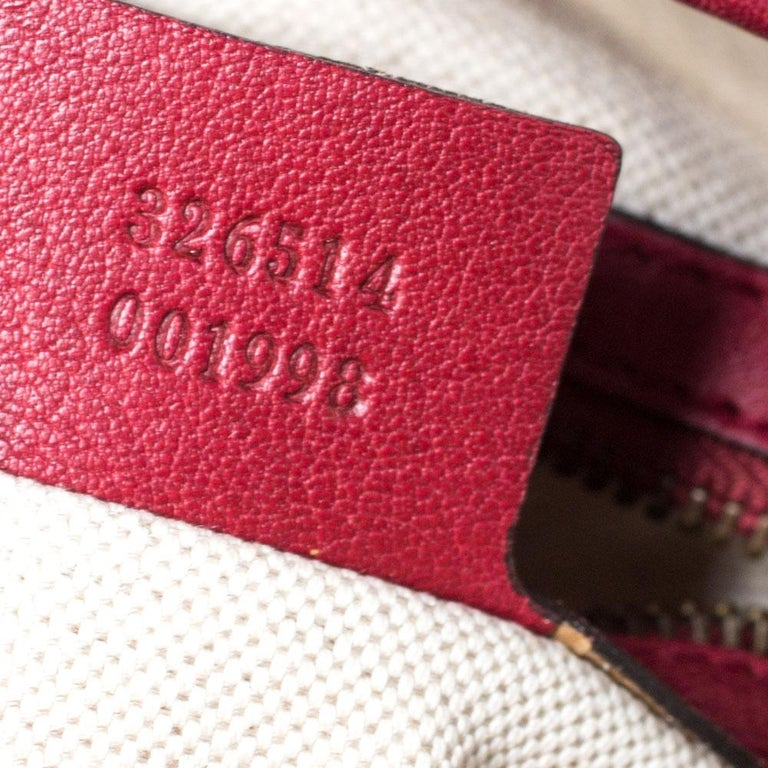 Gucci Beige/Red GG Canvas and Leather Miss GG Hobo 5