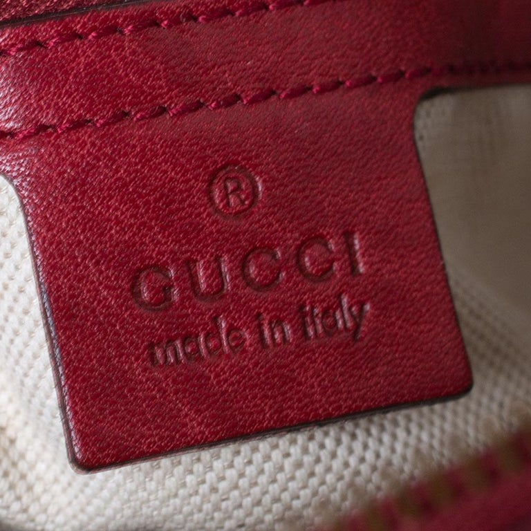 Gucci Beige/Red GG Canvas and Leather Miss GG Hobo 4