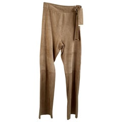 Gucci Beige Tan Suede Pants Trousers Size 40