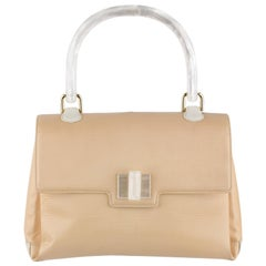 Gucci Beige Textured Leather Handbag with Lucite Handle