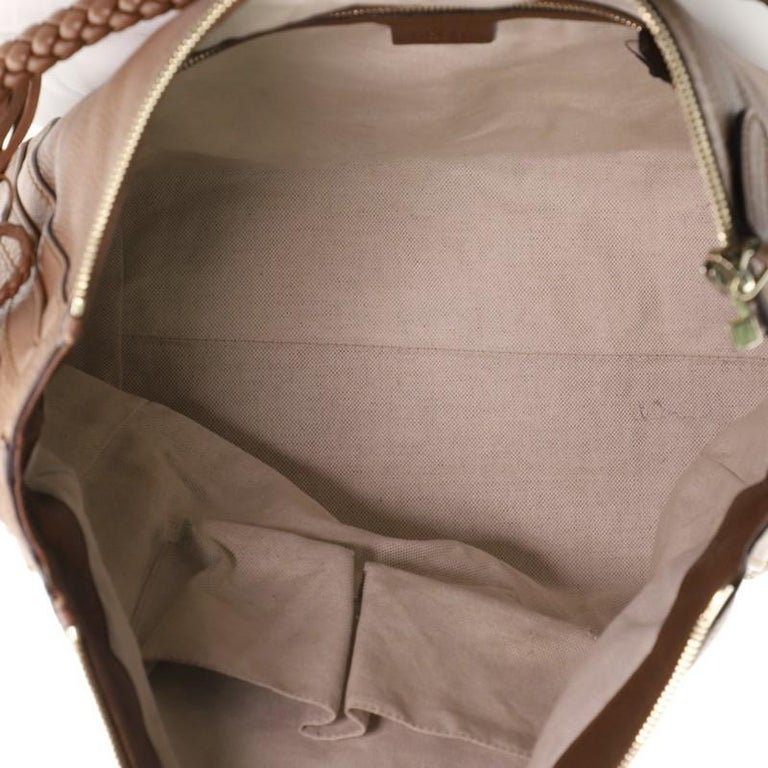Women's or Men's Gucci Bella Hobo Leather Large For Sale