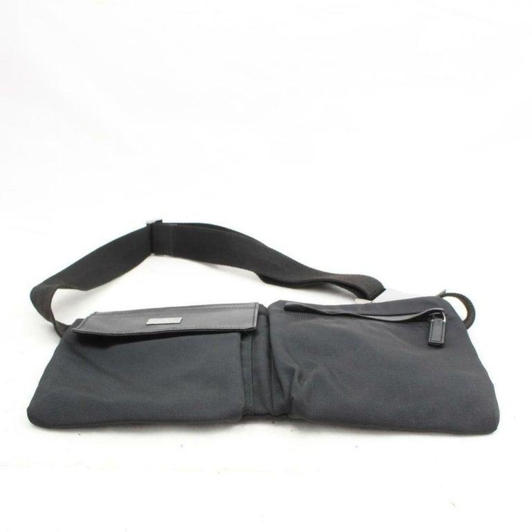 77a13cd95c84 Gucci Belt Pack Waist Pouch 870045 Black Nylon Cross Body Bag