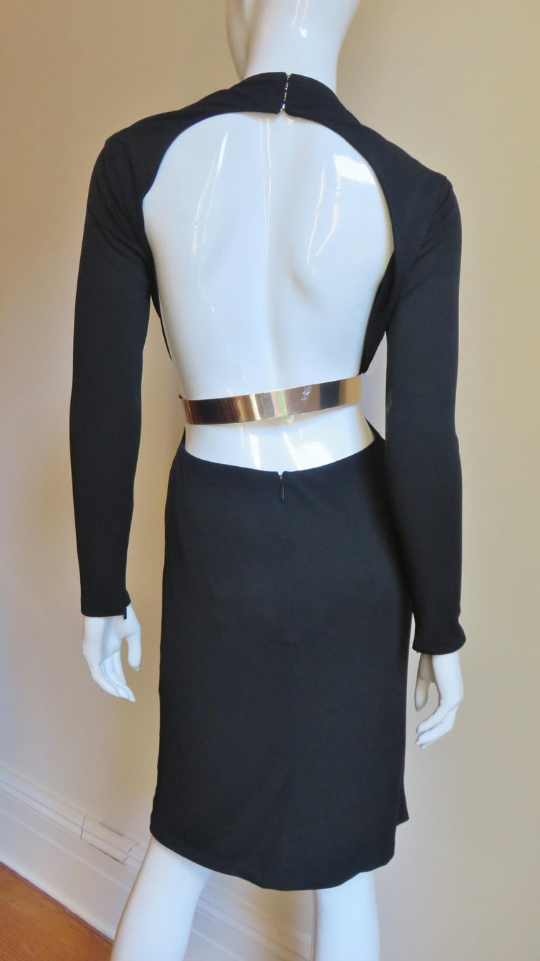 Gucci Belted Cut out Backless Dress 9