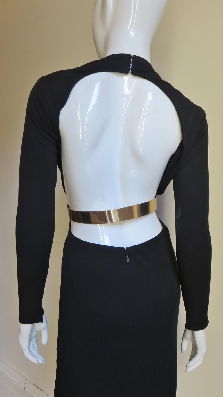 Gucci Belted Cut out Backless Dress 10