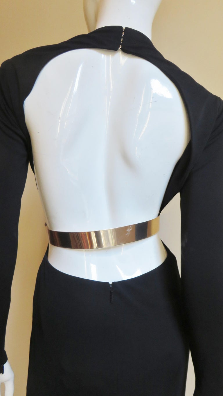 Gucci Belted Cut out Backless Dress 11