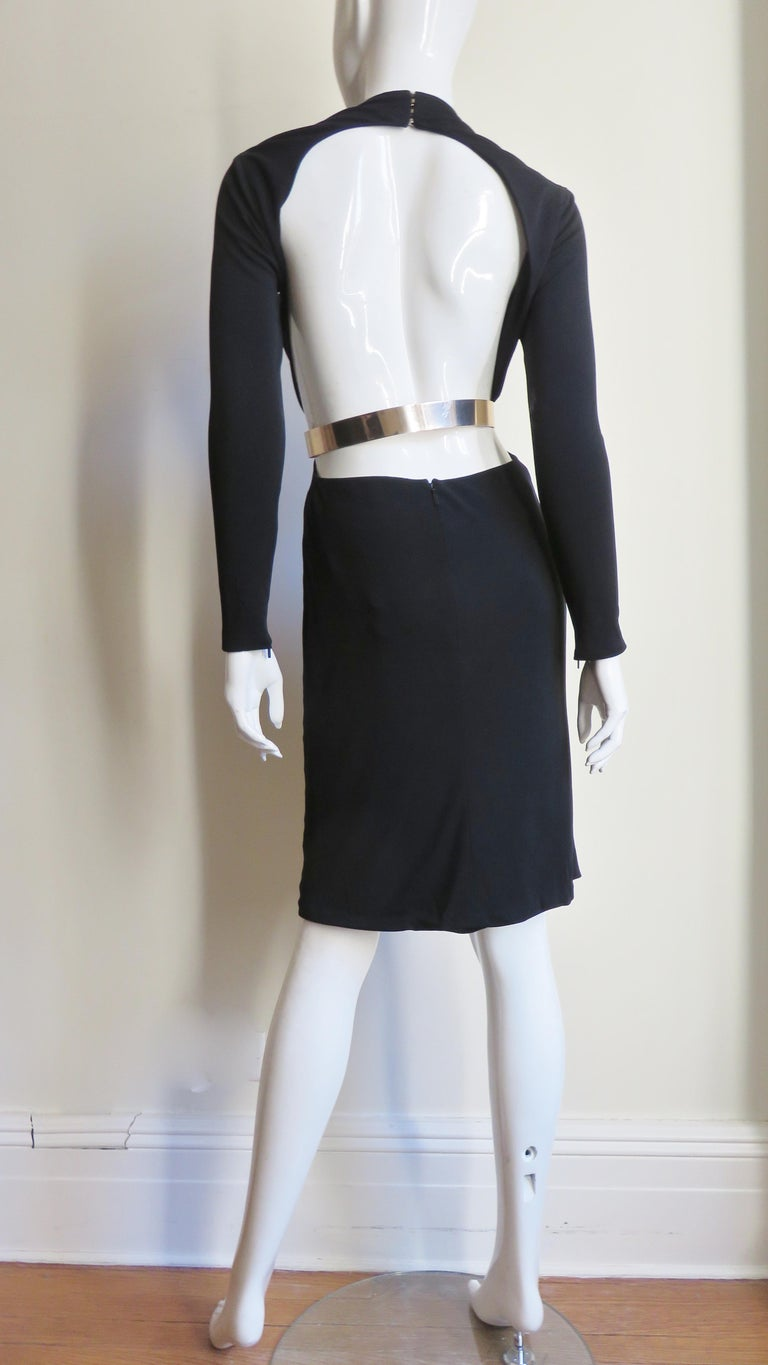 Gucci Belted Cut out Backless Dress 12