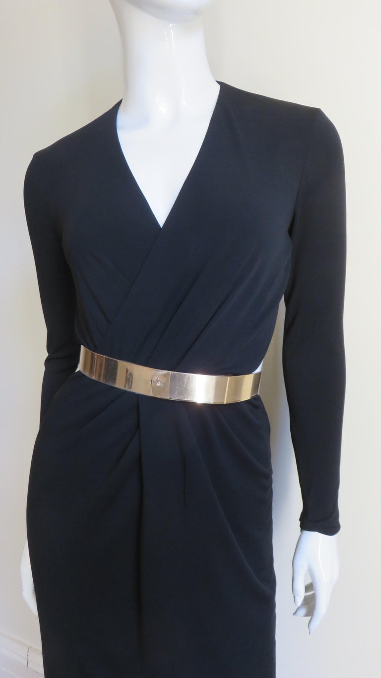 Gucci Belted Cut out Backless Dress In Good Condition In New York, NY