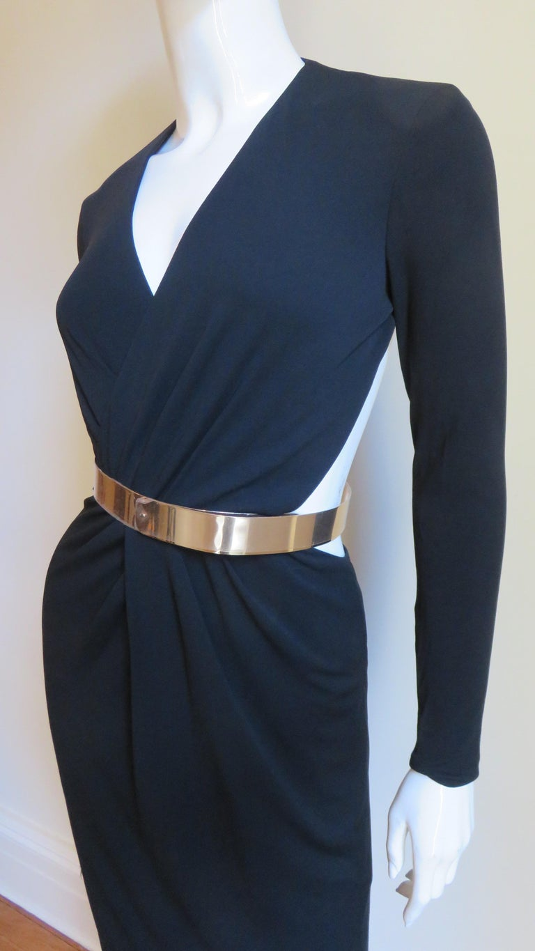 Gucci Belted Cut out Backless Dress 3