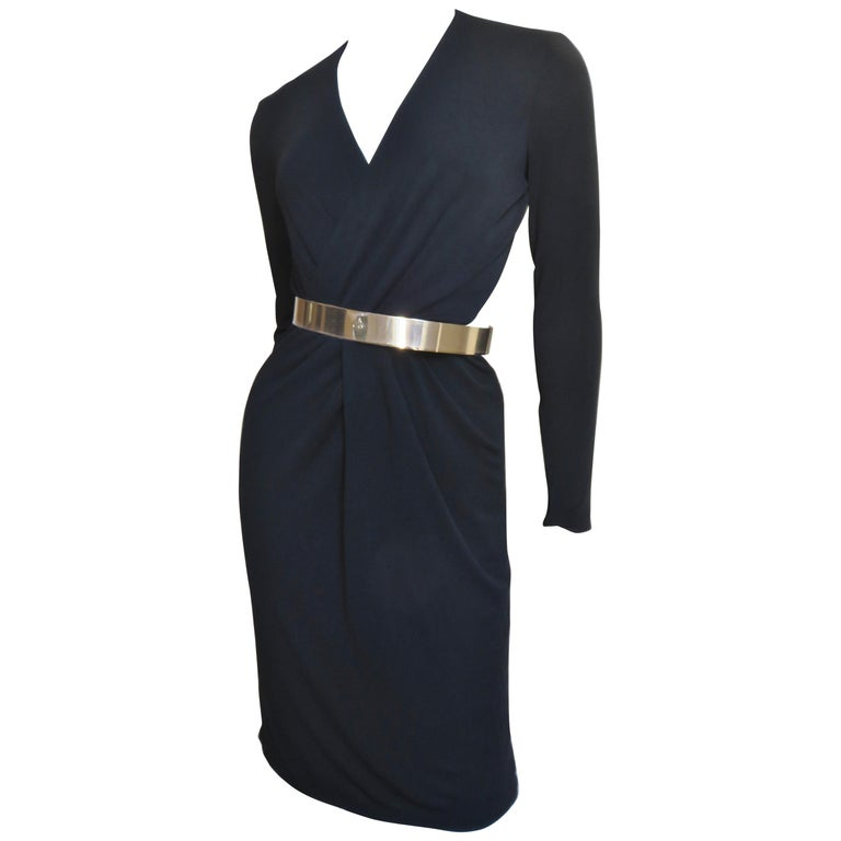 Gucci Belted Cut out Backless Dress