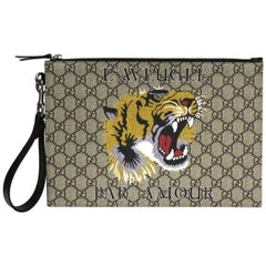 Gucci Bestiary pouch with tiger