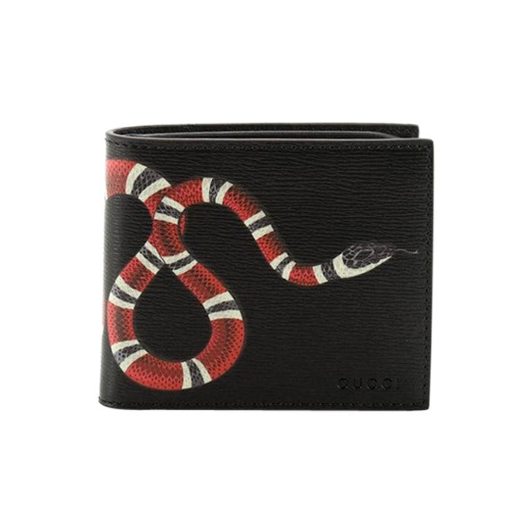 Gucci Bi-Fold Wallet Printed Leather  For Sale