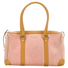 Gucci Bicolor Pink and Camel Tote Bag