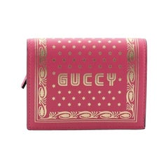 Gucci Bifold Wallet Limited Edition Printed Leather
