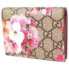 GUCCI billfold Womens card case 410088 beige x pink