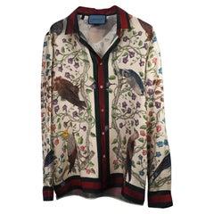 Gucci Birds of Prey Silk Twill Shirt (Size 39) 444251