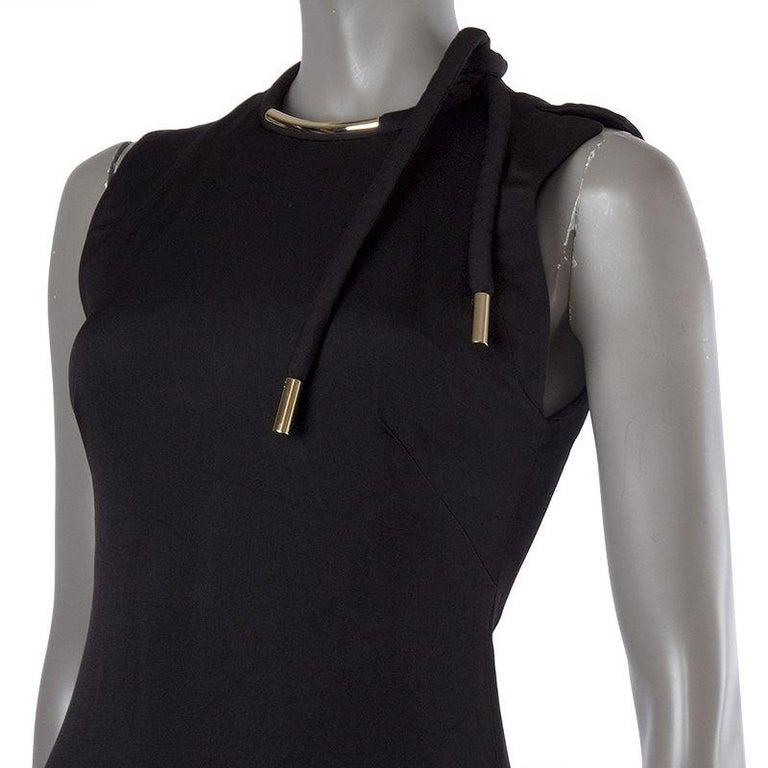 Black GUCCI black acetate NECKLACE NECK Cocktail Dress 38 For Sale