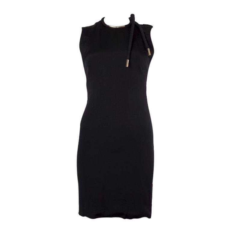 GUCCI black acetate NECKLACE NECK Cocktail Dress 38 For Sale