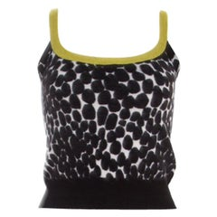 Gucci Black and White Printed Cashmere Top XS