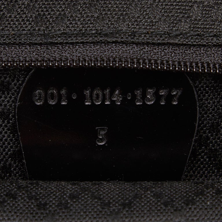 Gucci Black Bamboo Canvas Satchel For Sale 3
