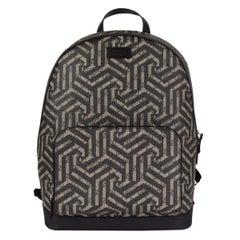 GUCCI black & beige CALEIDO GG MONOGRAM SUPREME Backpack Bag
