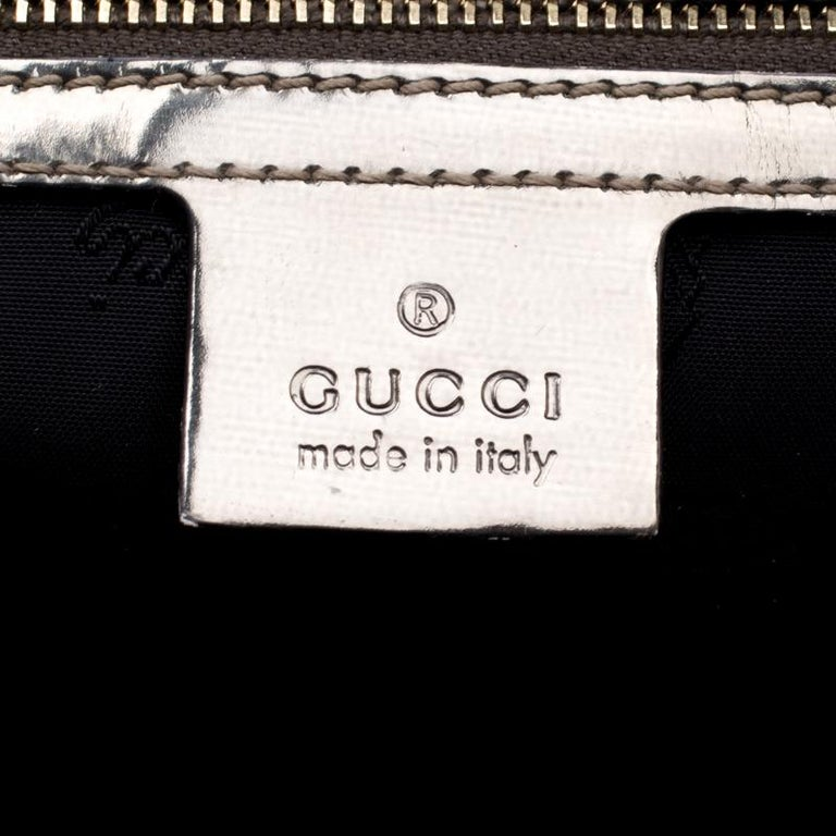Gucci Black  Beige Coated Nylon and Leather Dialux Pop Bamboo Top Handle Bag For Sale 6