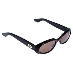 Gucci Black/Brown GG 2419 Vintage Oval Sunglasses