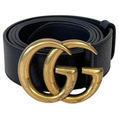 Gucci Black Calfskin Marmont GG Belt (115/46)
