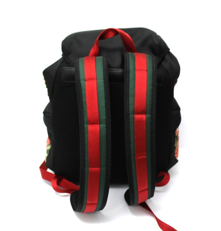 Gucci Black Canvas Backpack  In New Condition For Sale In Torre Del Greco, IT