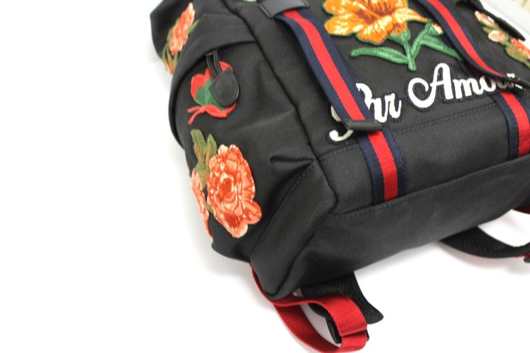 Gucci Black Canvas Backpack  For Sale 1