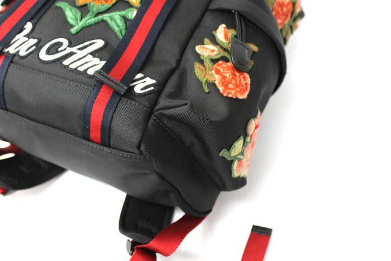 Gucci Black Canvas Backpack  For Sale 2