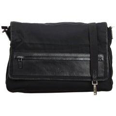 Gucci Black Canvas Fabric Messenger Bag Italy