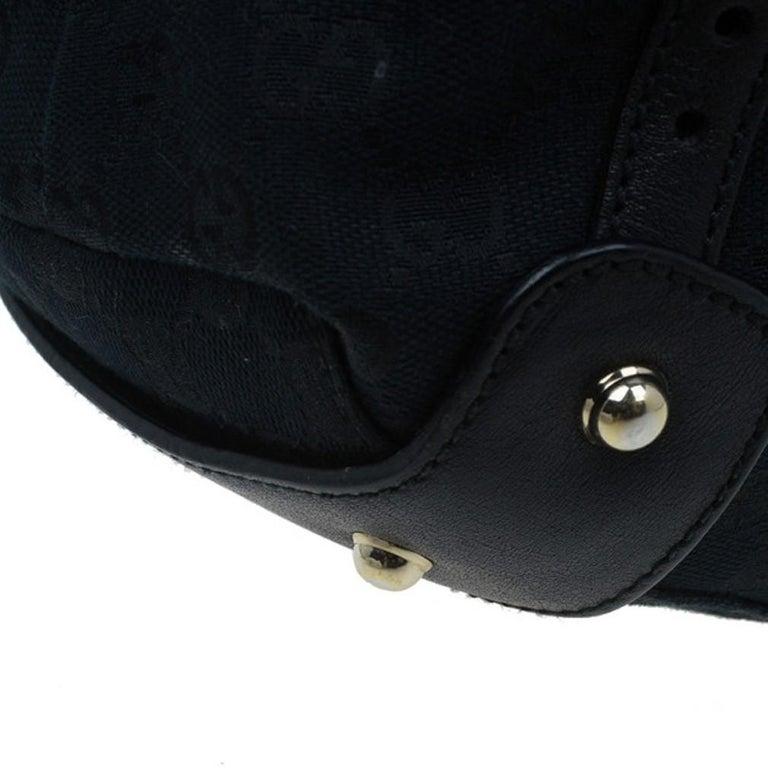 Gucci Black Canvas Medium Pelham Shoulder Bag For Sale 6