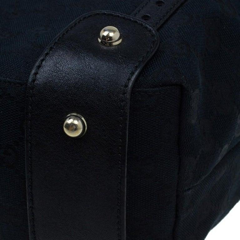 Gucci Black Canvas Medium Pelham Shoulder Bag For Sale 7