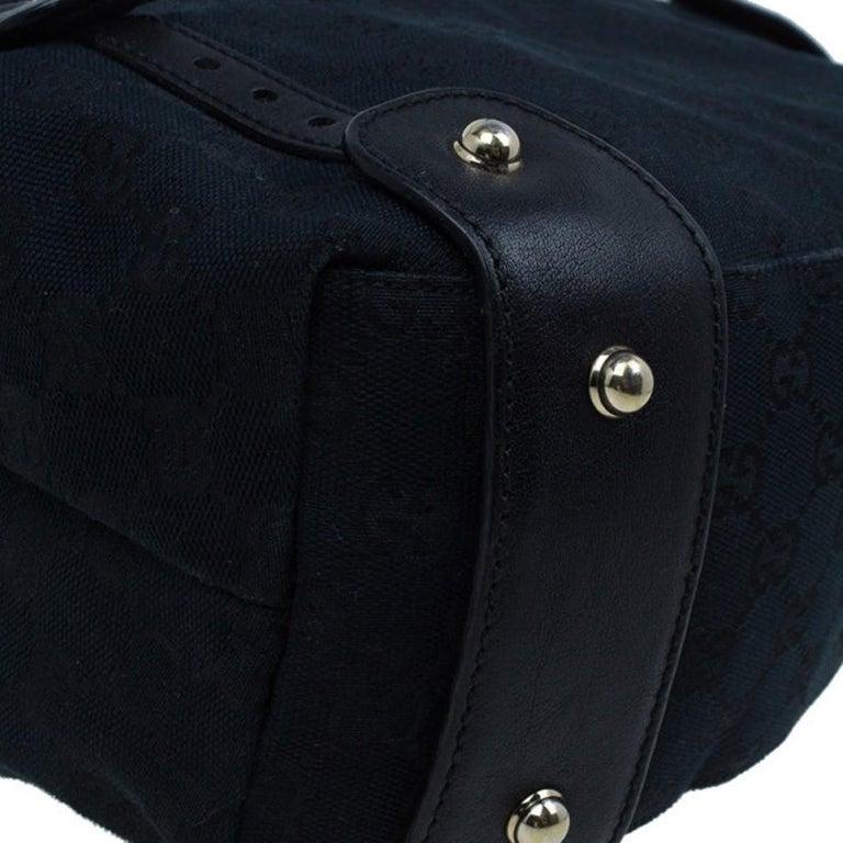 Gucci Black Canvas Medium Pelham Shoulder Bag For Sale 8
