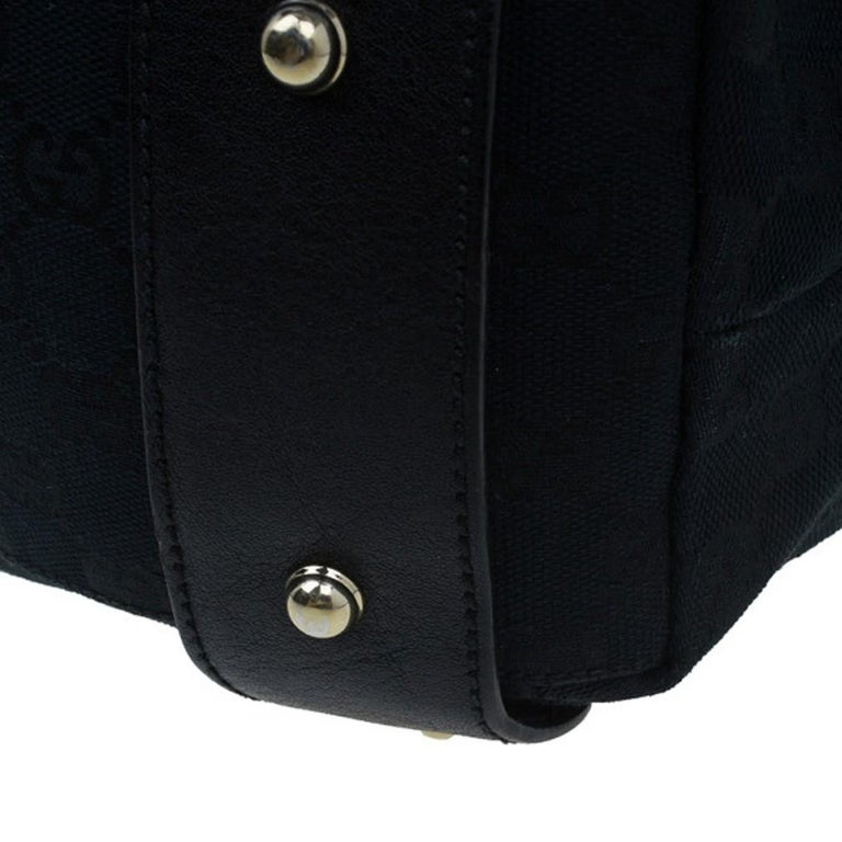 Gucci Black Canvas Medium Pelham Shoulder Bag For Sale 9