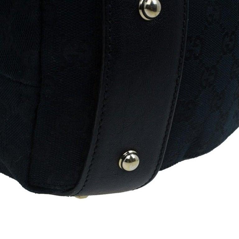 Gucci Black Canvas Medium Pelham Shoulder Bag For Sale 10