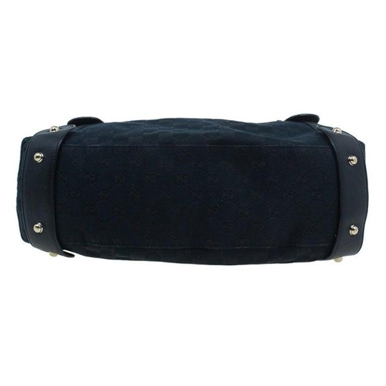 Gucci Black Canvas Medium Pelham Shoulder Bag For Sale 1