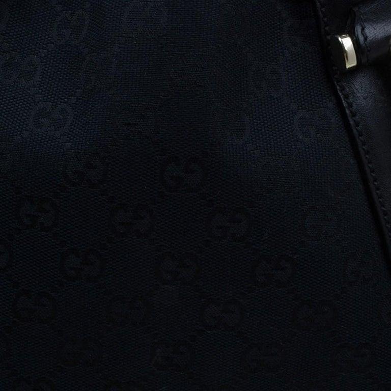 Gucci Black Canvas Medium Pelham Shoulder Bag For Sale 2