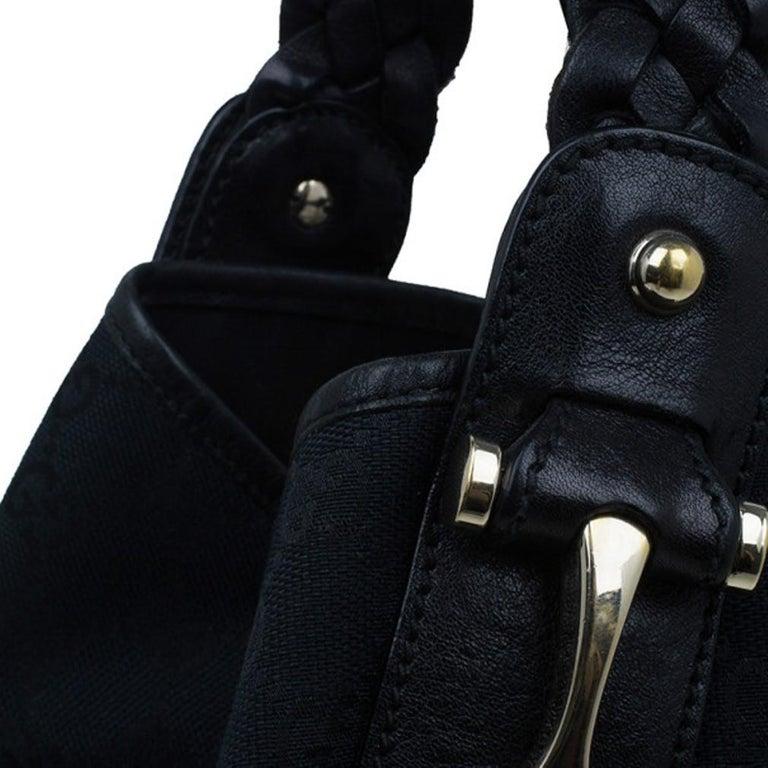 Gucci Black Canvas Medium Pelham Shoulder Bag For Sale 3