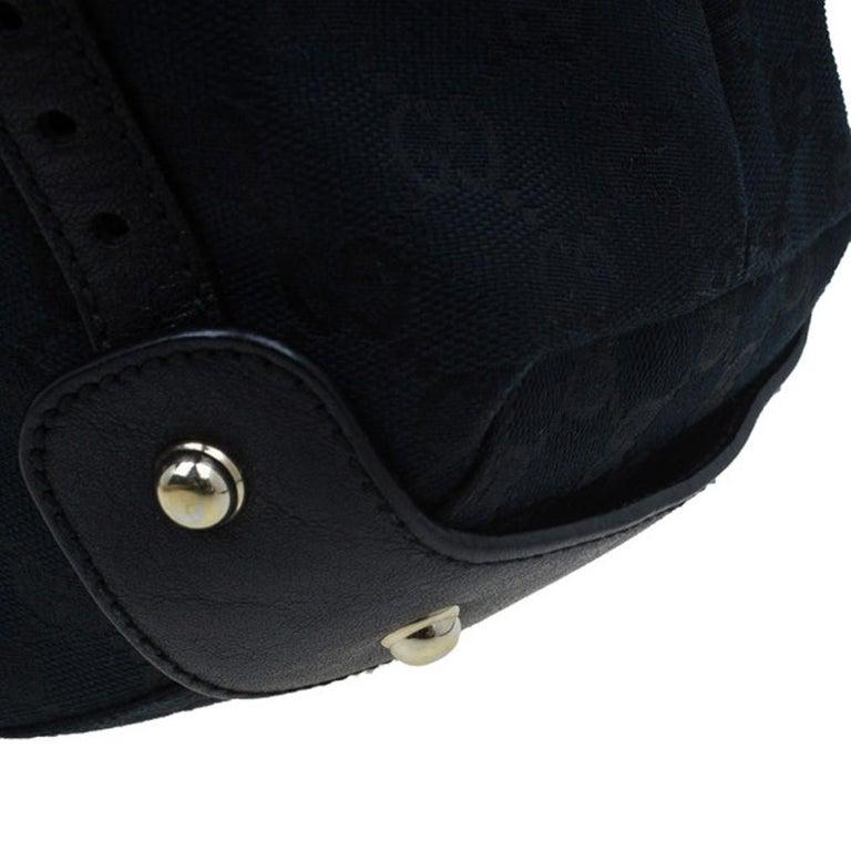 Gucci Black Canvas Medium Pelham Shoulder Bag For Sale 5