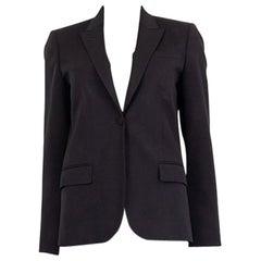 GUCCI black cotton blend Classic Single-Button Blazer Jacket 42 M