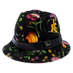 Gucci Black Floral Print Bucket Hat S